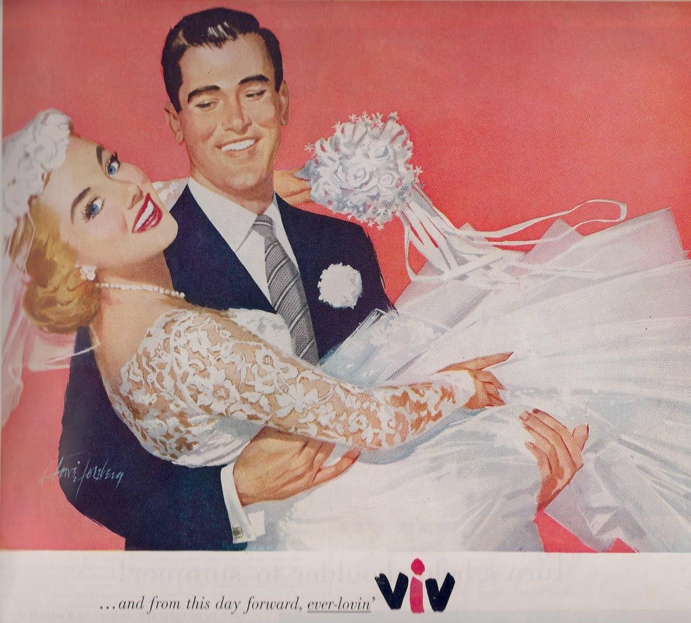 1950s wedding illustration