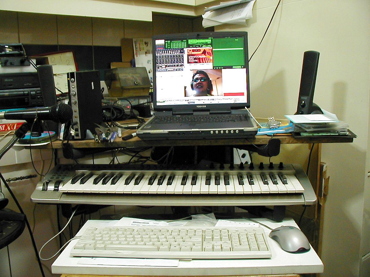 My A42 musical workspace circa 2004