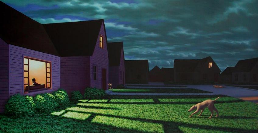 suburbia. painting by L.Koscianski